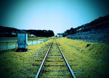 駅,村,晴れ,屋外,夏,ホラー