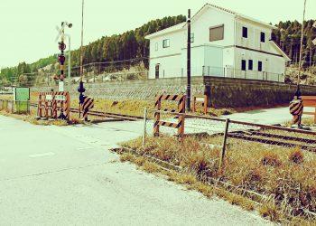 駅,村,晴れ,屋外,夏,昭和レトロ