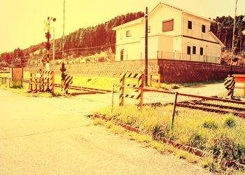駅,村,晴れ,屋外,夏,ヴィンテージ