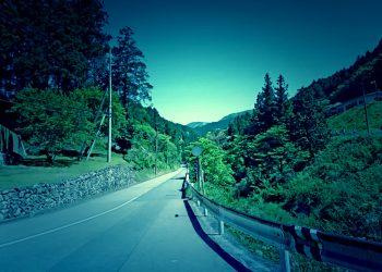 道路,村,屋外,夏,晴れ,ホラー