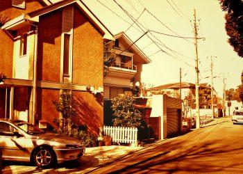 道路,町,屋外,冬,晴れ,ヴィンテージ