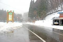 道路,村,冬,屋外,雪