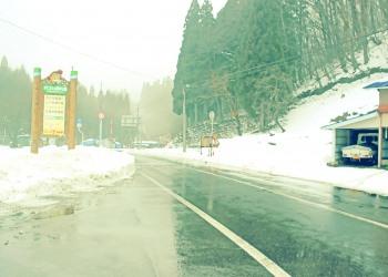 道路,村,冬,屋外,雪,昭和レトロ