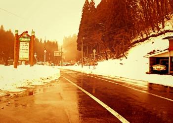 道路,村,冬,屋外,雪,ヴィンテージ