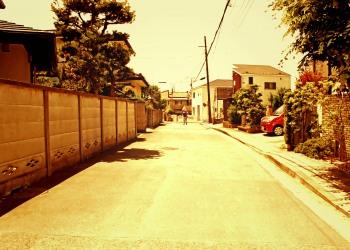 道路,町,晴れ,屋外,夏,ヴィンテージ
