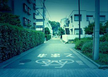 道路,町,屋外,夏,晴れ,ホラー