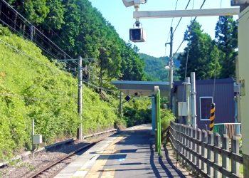 駅,村,屋外,晴れ,夏