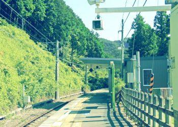 駅,村,屋外,晴れ,夏,昭和レトロ