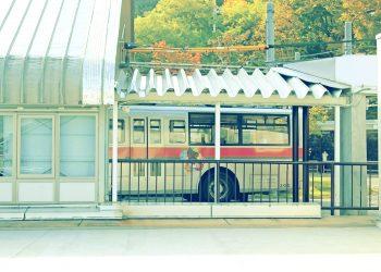 駅,ロータリー,町,屋外,晴れ,秋,昭和レトロ
