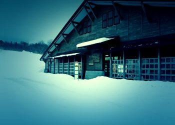 村,ロータリー,冬,屋外,雪,ホラー