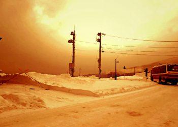 村,ロータリー,冬,屋外,雪,ヴィンテージ