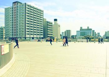 建物前,屋外,春,晴れ,昭和レトロ