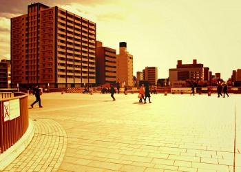 建物前,屋外,春,晴れ,ヴィンテージ