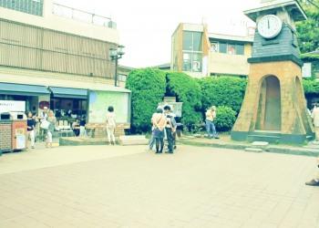 駅,町,夏,屋外,曇り,昭和レトロ
