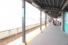 駅,町,夏,屋内,曇り
