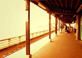 駅,町,夏,屋内,曇り,ヴィンテージ