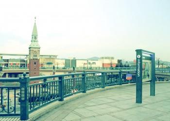 駅,町,冬,屋外,曇り,昭和レトロ