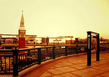 駅,町,冬,屋外,曇り,ヴィンテージ