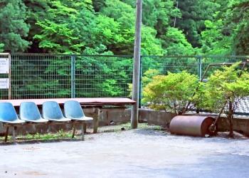 駅前,ロータリー,村,屋外,夏