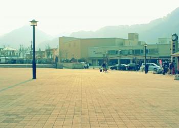 駅前,町,曇り,屋外,昭和レトロ