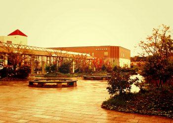 駅前,町,屋外,秋,曇り,ヴィンテージ