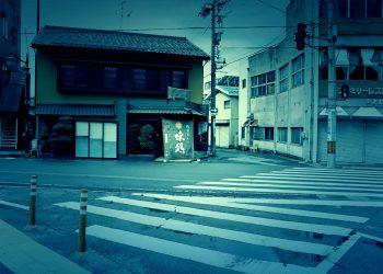 道路,建物前,町,屋外,晴れ,ホラー