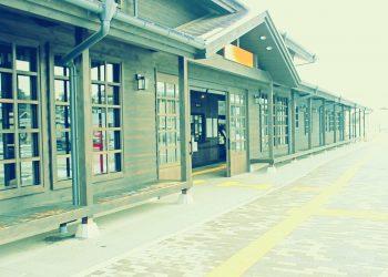 駅前,建物前,村,屋外,冬,曇り,昭和レトロ