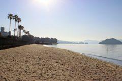 浜辺,町,屋外,秋,晴れ