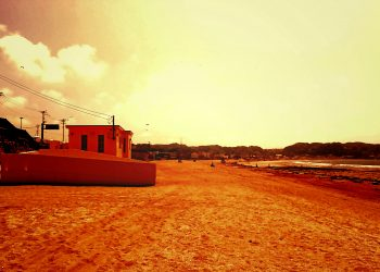 浜辺,町,屋外,夏,晴れ,ヴィンテージ
