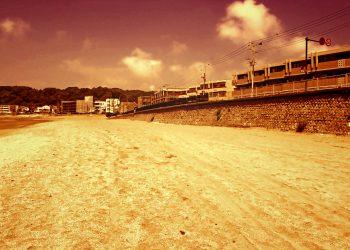 浜辺,都市,屋外,夏,晴れ,ヴィンテージ