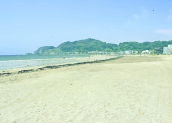 浜辺,町,夏,屋外,晴れ,昭和レトロ