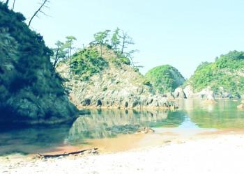 浜辺,村,夏,屋外,晴れ,昭和レトロ