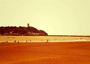 浜辺,夏,屋外,曇り,ヴィンテージ