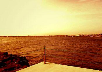 浜辺,村,屋外,夏,晴れ,ヴィンテージ