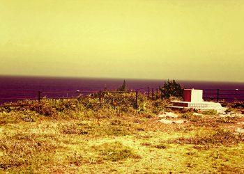浜辺,展望,漁村,屋外,春,晴れ,ヴィンテージ