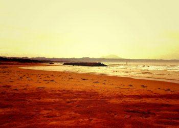 浜辺,村,屋外,秋,晴れ,ヴィンテージ