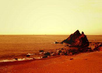 浜辺,村,屋外,秋,曇り,ヴィンテージ