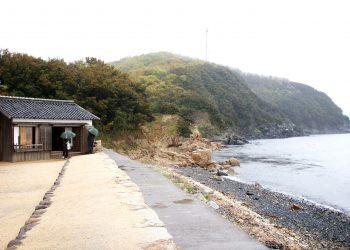 浜辺,漁村,屋外,秋,曇り