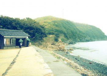 浜辺,漁村,屋外,秋,曇り,昭和レトロ