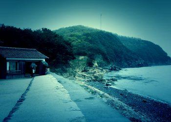 浜辺,漁村,屋外,秋,曇り,ホラー