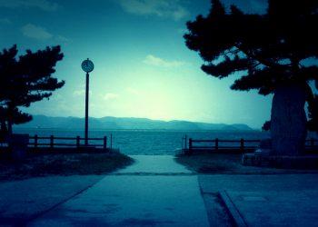 浜辺,漁村,屋外,夏,晴れ,ホラー