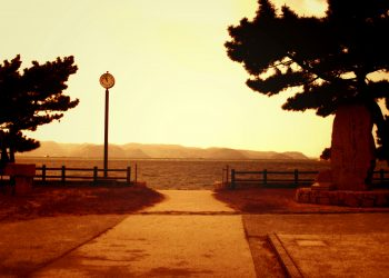 浜辺,漁村,屋外,夏,晴れ,ヴィンテージ