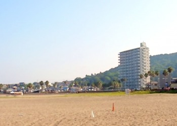 浜辺,町,屋外,夏,晴れ