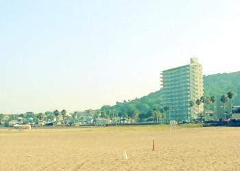 浜辺,町,屋外,夏,晴れ,昭和レトロ