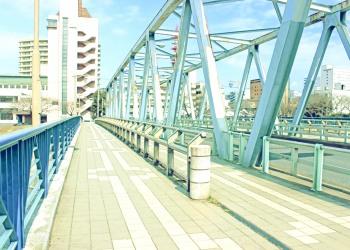 橋,町,屋外,秋,晴れ,昭和レトロ