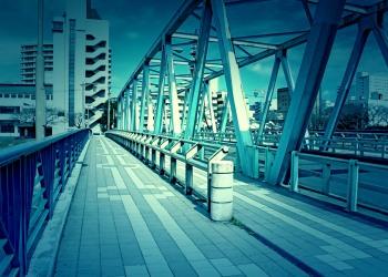 橋,町,屋外,秋,晴れ,ホラー