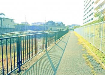 川,橋,町,屋外,春,晴れ,昭和レトロ
