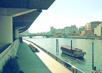 川,街,屋外,夏,晴れ,昭和レトロ