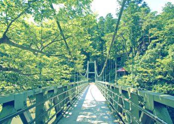 橋,村,屋外,夏,晴れ,昭和レトロ
