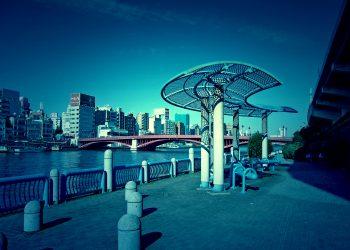 川,都会,屋外,春,晴れ,ホラー